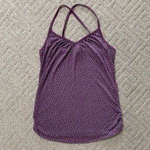 Xhilaration Strappy Tank Top, Purple, Size L